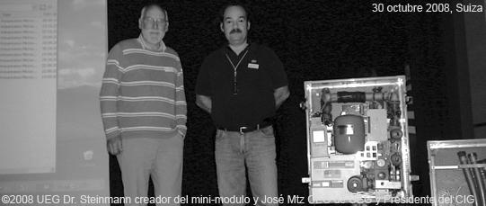 ©UEG el Dr Steinmann creador del mini-modulo y José Mtz CEO de UEG y Presidente del CIG...